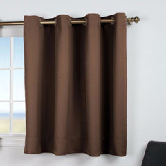 Ultimate -Black- Out- Grommet-Top- Shortie- Panel-Espresso