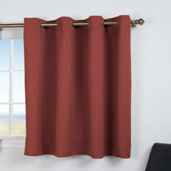 Ultimate -Black- Out- Grommet-Top- Shortie- Panel-Garnet