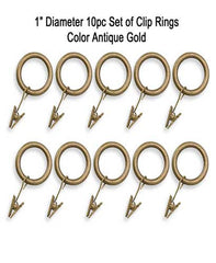 Unique-Ball-Adjustable-Decorative-Curtain-Rod-Antique-Gold-Clip-Rings
