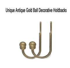 Unique-Ball-Adjustable-Decorative-Curtain-Rod-Antique-Gold-Holdback