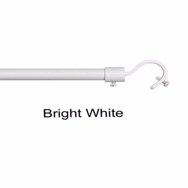 Bright White Add a Rod Round Hook Curtain Rod