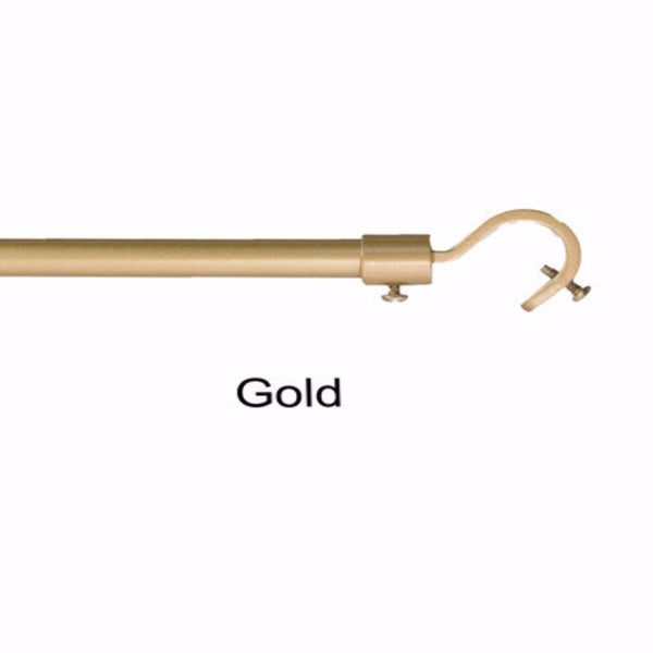 Gold Add a Rod Round Hook Curtain Rod