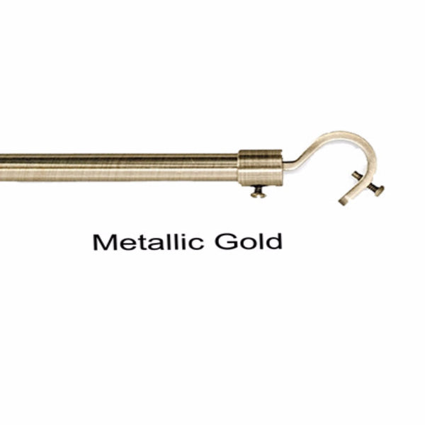 Metallic Gold Add a Rod Round Hook Curtain Rod