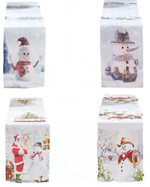Seasonal Snowed Table Runners