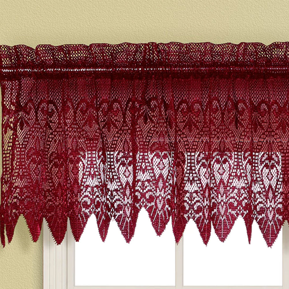 voile panel claret burgundy valances curtains valance stylemaster sheer elegance contemporary modern