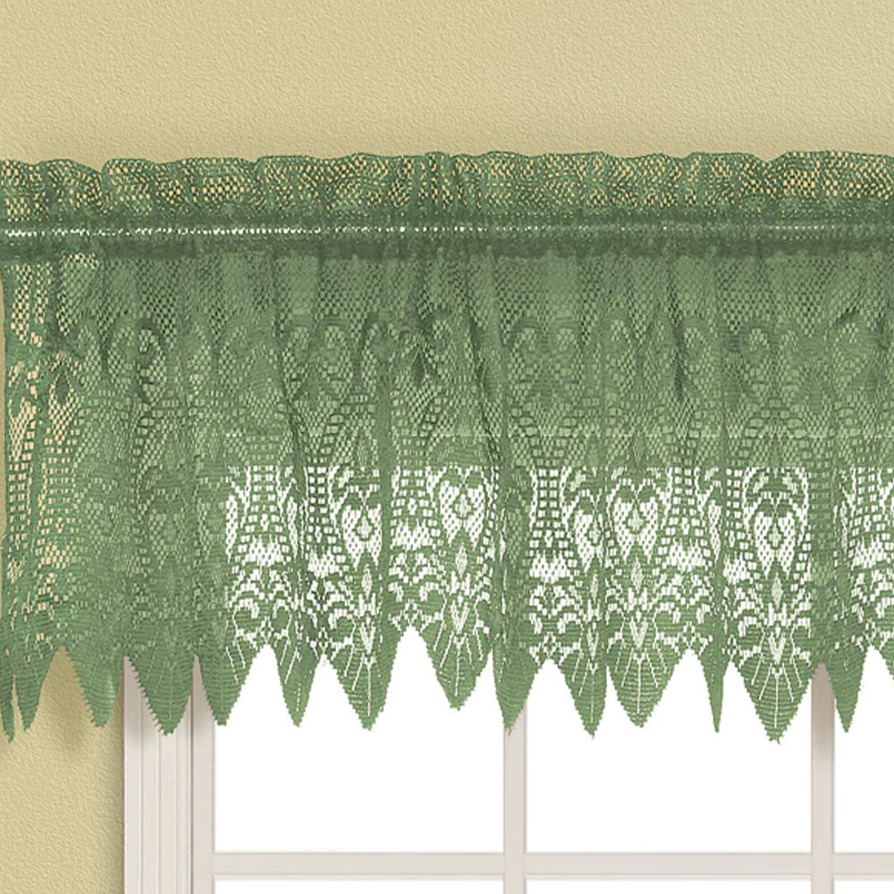 Valerie Macrame Sheer Kitchen Valance, Swags, and Tiers