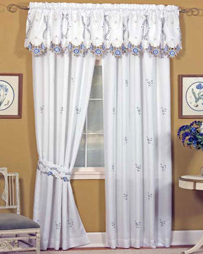 Verona Embroidered Panel Pairs By Hci Curtainshop Com