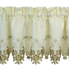 Verona-Embroidered-Cutwork-Tier-Valance-&-Swag-Ecru-Antique