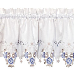Verona-Embroidered-Cutwork-Tier-Valance-&-Swag-Blue-White