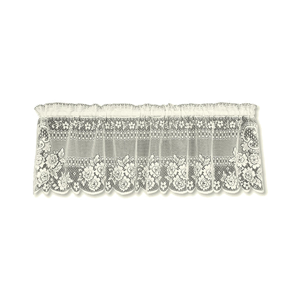 Victorian Rose Lace Valance