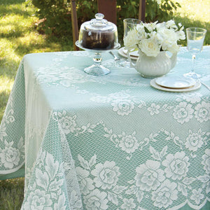 Victorian Rose Lace Tablecloth