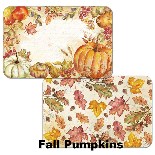 Fall Pumpkin Autumn Reversible Plastic Placemats
