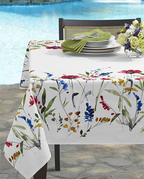 Wild Flower Indoor/Outdoor Spill Proof Fabric Tablecloth
