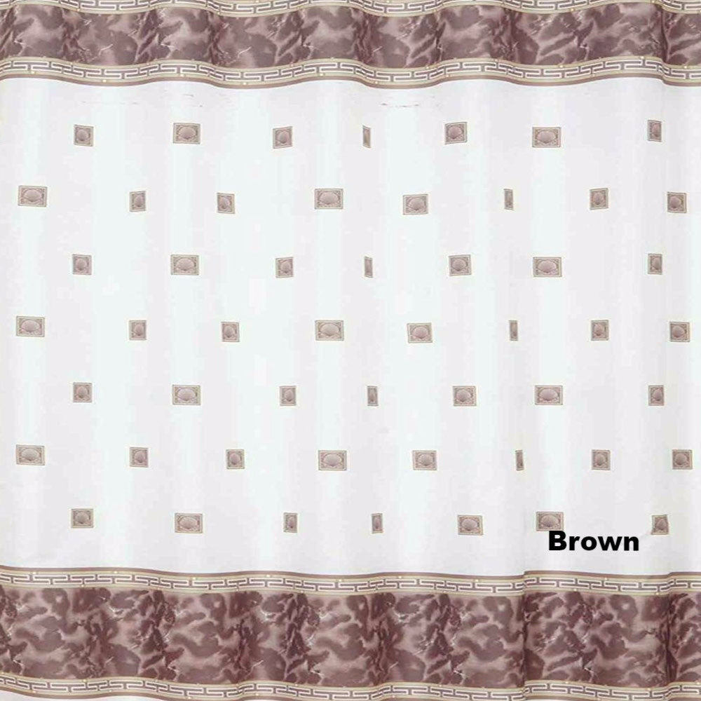 brown and white shower curtain.  Windsor Fabric Shower Curtain Brown Carnation Home Fashion