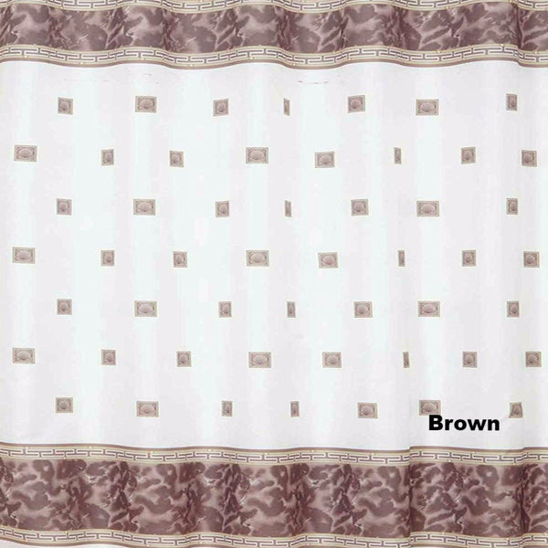 Close up shot of Brown Windsor Fabric Shower Curtain fabric
