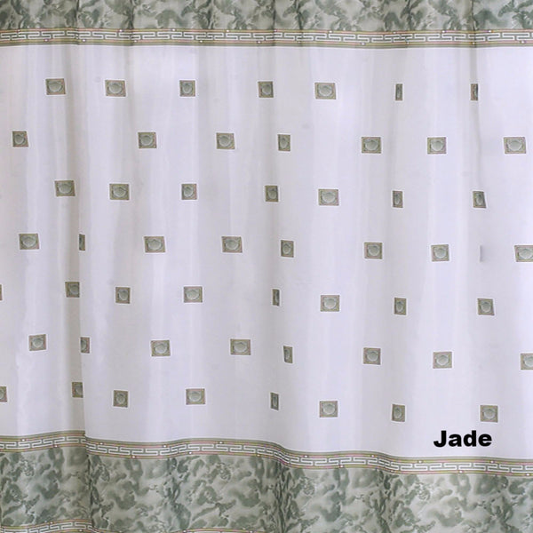 Close up shot of Jade Windsor Fabric Shower Curtain fabric