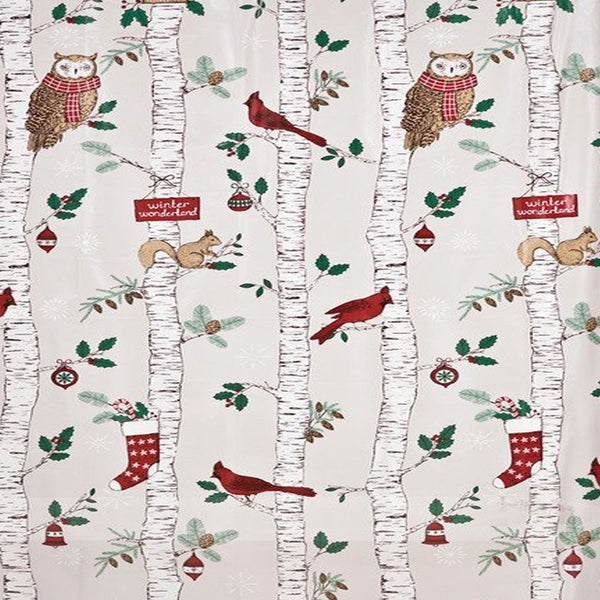 Closeup of Winter Birch Peva Shower Curtain