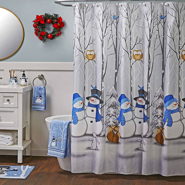 Winter Friend Fabric Shower Curtain