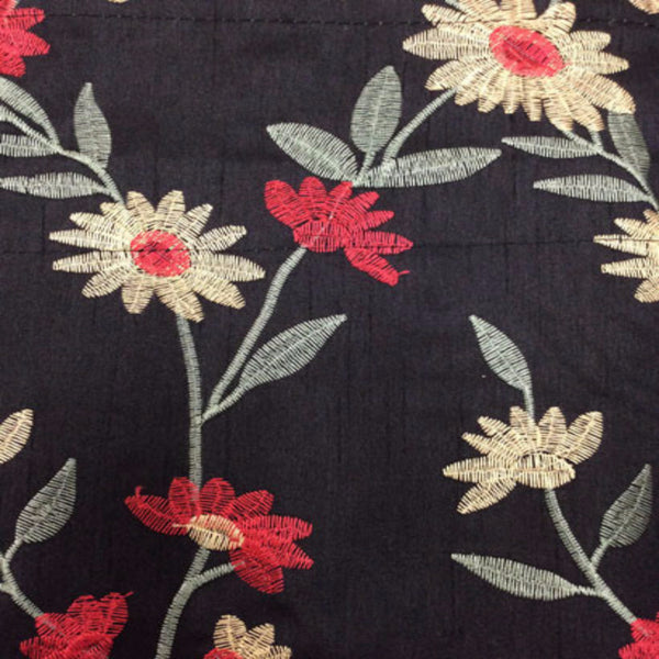 Wisteria-Embroidered-Grommet- Top- Panel-Onyx-Zoom