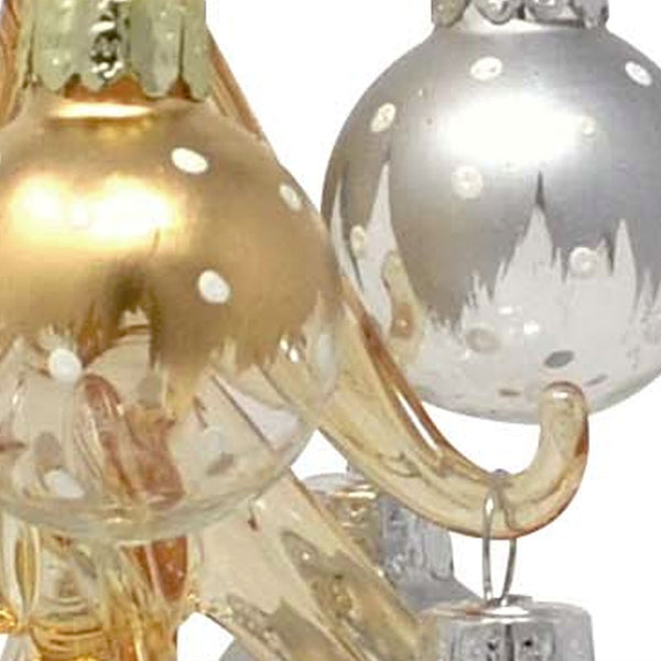 "Up close shot of Champagne 8"" Glass Christmas Trees"