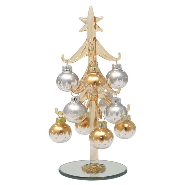 "Champagne 8"" Glass Christmas Trees"