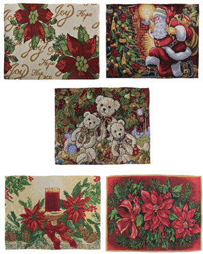 "Multi Christmas 13""x 19"" Tapestry Placemats"