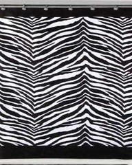Zebra- Fabric- Shower Curtain