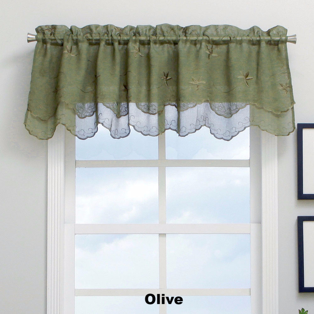 ... Zurich Scalloped Valance Olive ...