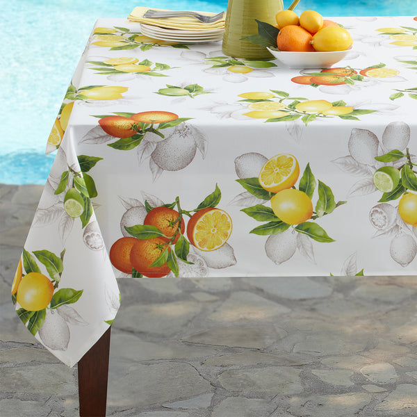 Botanical Citrus Indoor/Outdoor Spill Proof Tablecloth