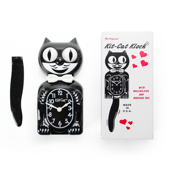 "The 15.5"" Classic Black Kit-Cat Klock"