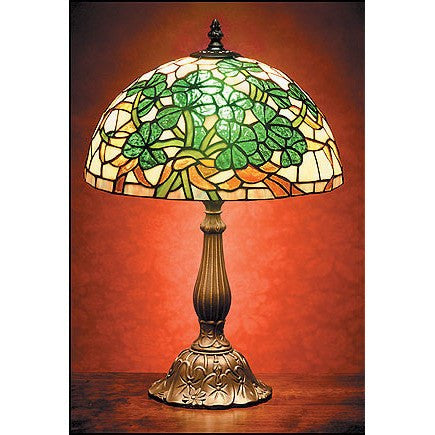Stained Glass Shamrock Lamp — Scotland House, Ltd.