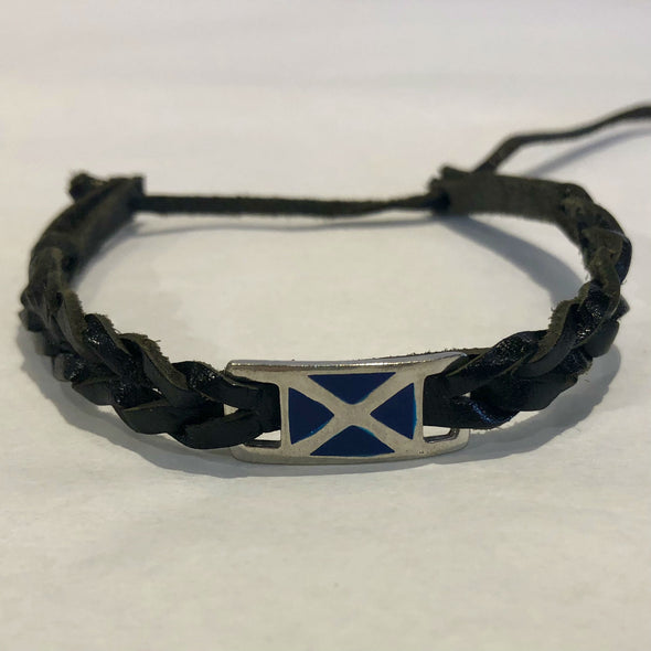 Scotland Saltaire Leather Bracelet