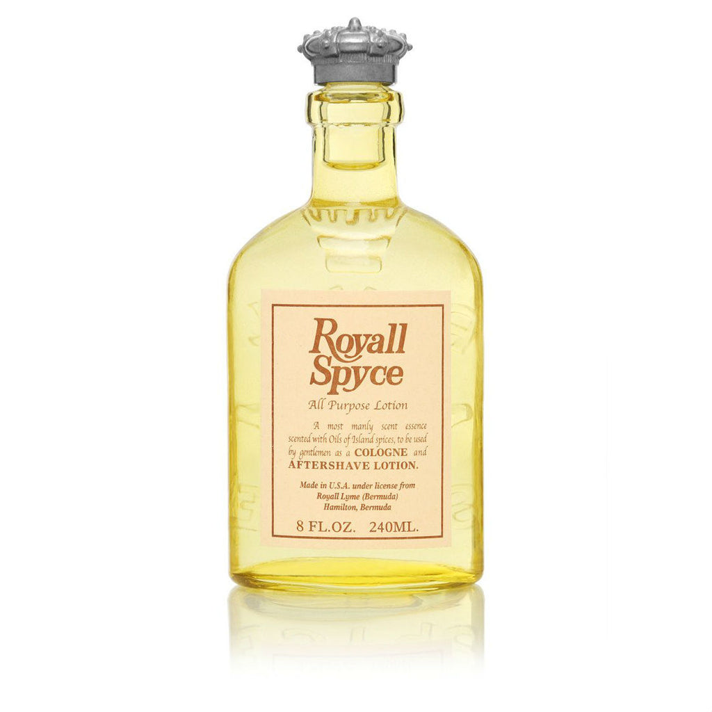 Royall Spyce men's cologne, in yellow bottle