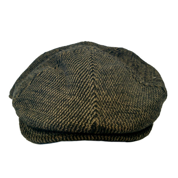 black and camel driving cap for men