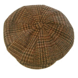 Harris Tweed Newsboy Cap in Earth Tone Pattern — Scotland House, Ltd.