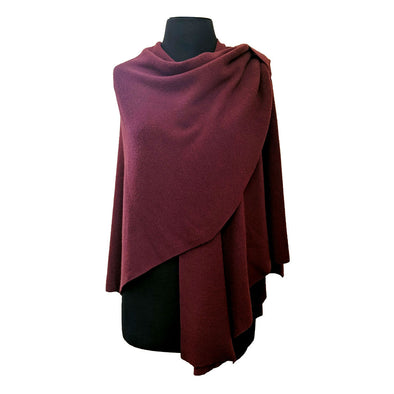 Merino Wool Wrap with Shoulder Loop