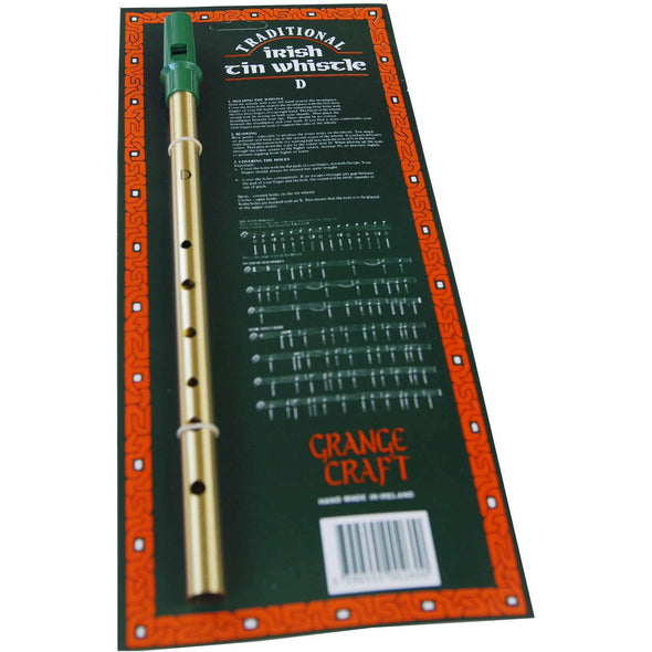 Irish tin whistle with instructions and sample songs