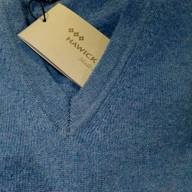 Cashmere V-Neck Sweater from Hawick of Scotland