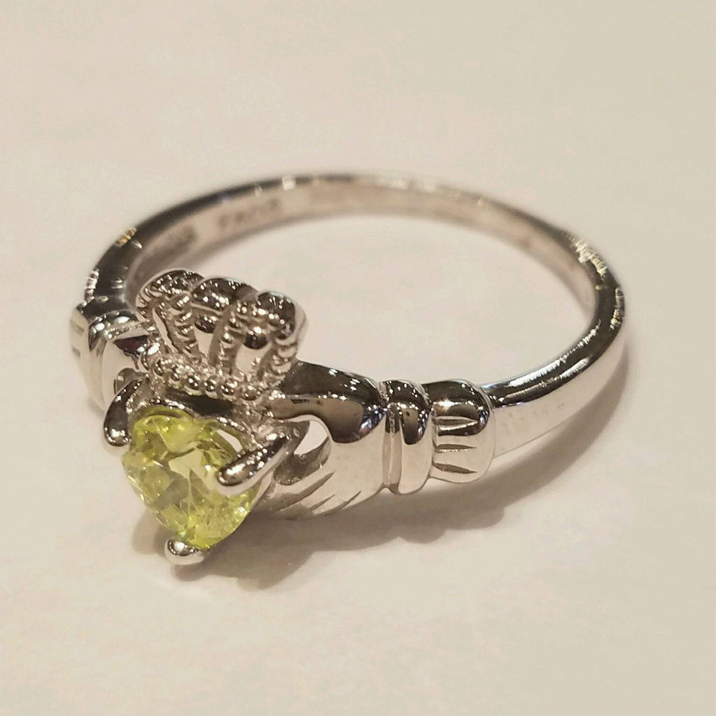 Peridot & Silver Claddagh Ring — Scotland House, Ltd.