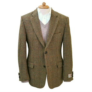 Harris Tweed Jacket | Gold with Red Check