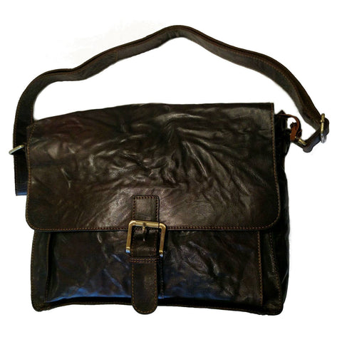 Unisex Leather Messenger Bag — [ 2 Colors ] — Scotland House, Ltd.