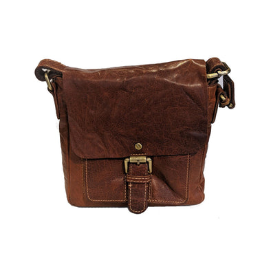 Leather Half-flap Cross-body Purse