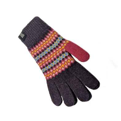 Women's Pure Wool Fair Isle Gloves