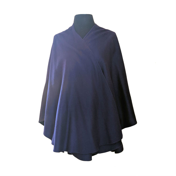 Cashmere Blend Ruana | Royal Purple
