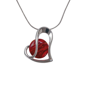 Heathergems Heart Wrap Pendant