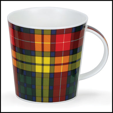 Cairngorm bone china mug in Buchanan modern tartan