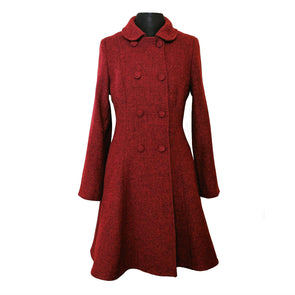 """Belle"" Semi-Flare Harris Tweed Overcoat"