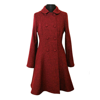 Belle Semi-Flare Harris Tweed Overcoat