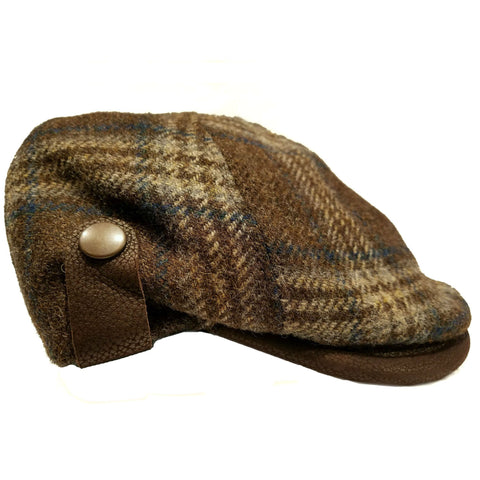 Wool & Leather Flat Cap with Optional Ear Flaps — Scotland House, Ltd.