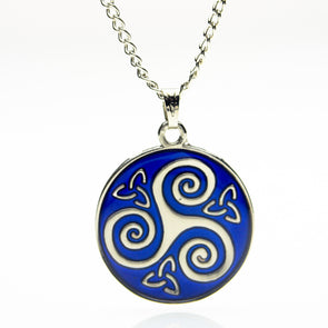 Triskelion & Trinity Knot Mood Necklace